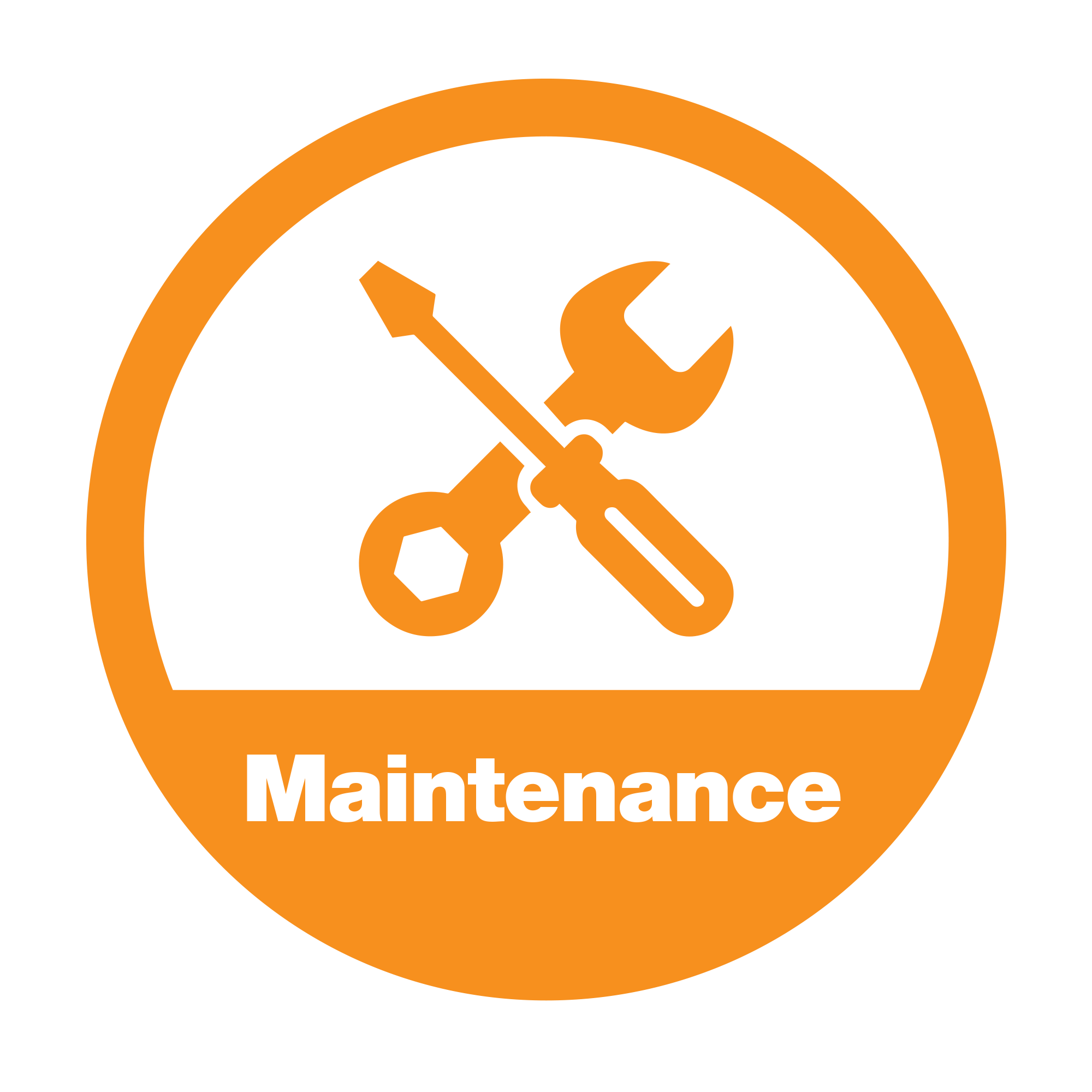 Graphical element image symbolizing maintenance